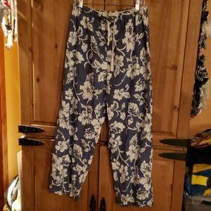 Old Navy hawaiian print sleep pant/bottom Size L